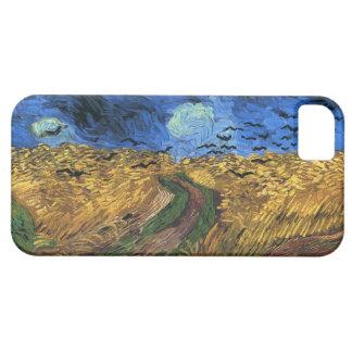 Wheatfield de Van Gogh con el caso del iPhone de l iPhone 5 Case-Mate Cárcasas