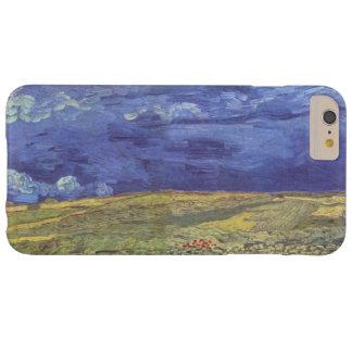 Wheatfield de Van Gogh con el cielo nublado Funda Barely There iPhone 6 Plus