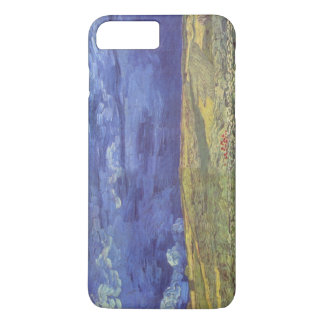 Wheatfield de Van Gogh con el cielo nublado Funda iPhone 7 Plus