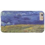 Wheatfield de Van Gogh con el cielo nublado Funda Para iPhone 6 Plus Barely There