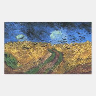 Wheatfield de Van Gogh con los pegatinas de los Rectangular Altavoz