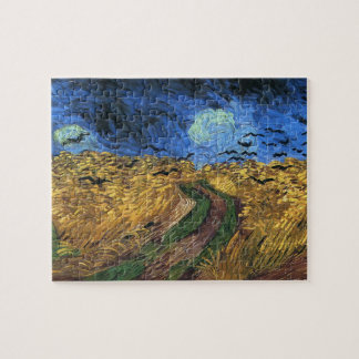 Wheatfield de Van Gogh con rompecabezas de los cue