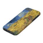 Wheatfield de Van Gogh del vintage con los cuervos Funda De iPhone 6 Tough