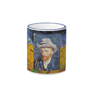Wheatfield de Van Gogh Taza A Dos Colores
