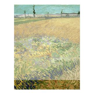 Wheatfield de Vincent van Gogh Tarjetón