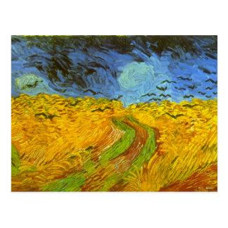 Wheatfield de Vincent van Gogh Tarjeta Postal