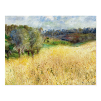 Wheatfield - Pierre-Auguste Renoir Tarjeta Postal