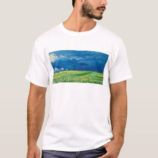 Wheatfield Under Thunderclouds by Vincent van Gogh T-Shirt