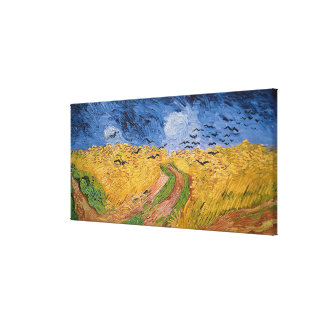 Wheatfield with Crows, 1890 (oil on canvas) Canvas Print
