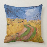 Wheatfield with Crows, 1890 (oil on canvas) Throw Pillows