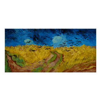 Wheatfield with Crows by Vincent van Gogh (1890) Poster