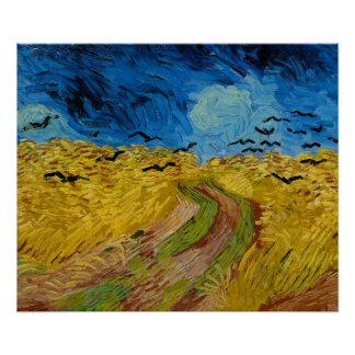 Wheatfield With Crows by Vincent van Gogh Poster