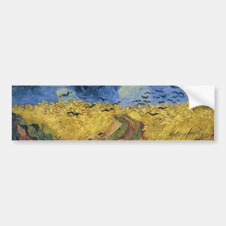 Wheatfield with Crows (F779) Van Gogh Fine Art Bumper Sticker