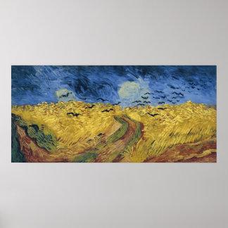 Wheatfield with Crows (F779) Van Gogh Fine Art Poster
