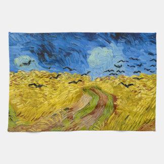 Wheatfield with crows - Vincent Van Gogh (1890) Toalla De Mano