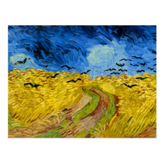 Wheatfield with crows - Vincent Van Gogh (1890) Postales
