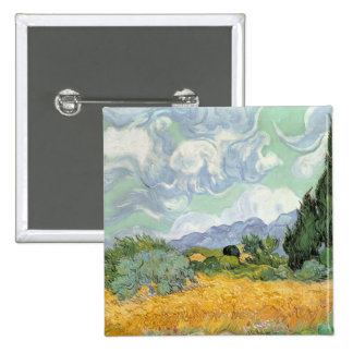 Wheatfield with Cypresses, 1889 Button