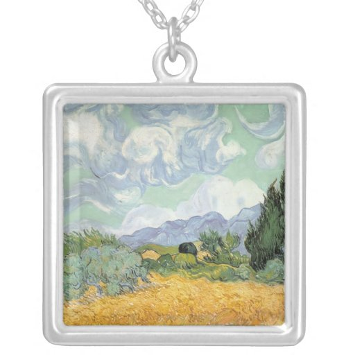 Wheatfield with Cypresses, 1889 Custom Necklace