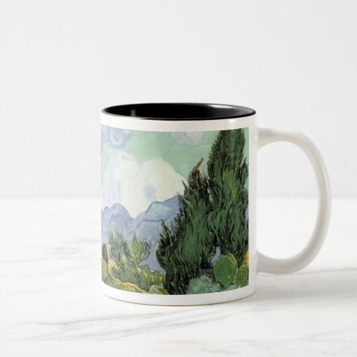 Wheatfield with Cypresses, 1889 Mugs