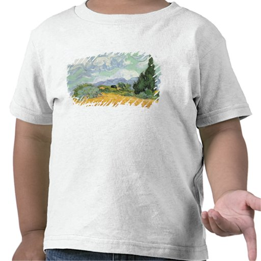 Wheatfield with Cypresses, 1889 T-shirt