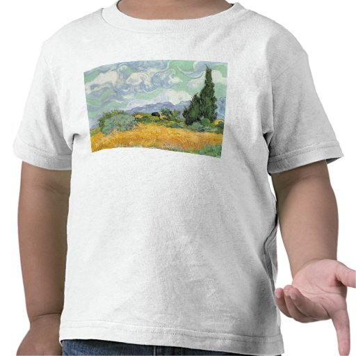 Wheatfield with Cypresses, 1889 T Shirts