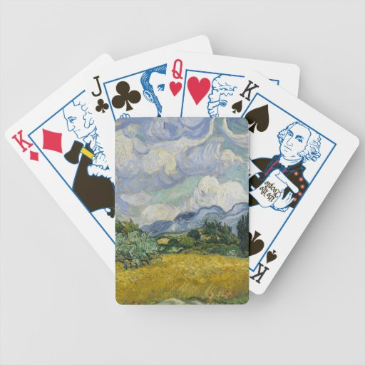 Wheatfield with Cypresses Bicycle Playing Cards