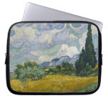 Wheatfield with Cypresses Laptop Computer Sleeve