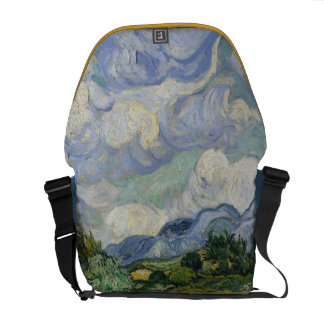 Wheatfield with Cypresses Courier Bags