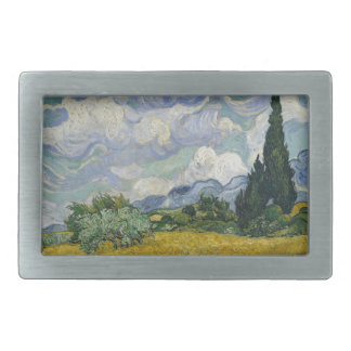 Wheatfield with Cypresses Rectangular Belt Buckles