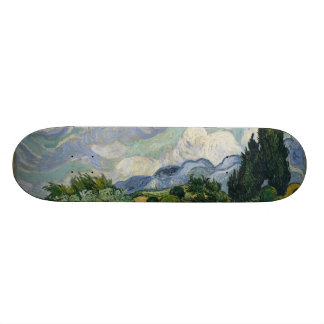 Wheatfield with Cypresses Skateboard