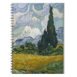 Wheatfield with Cypresses Spiral Note Books