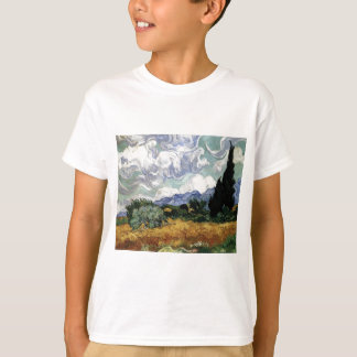 Wheatfield with Cypresses T-Shirt