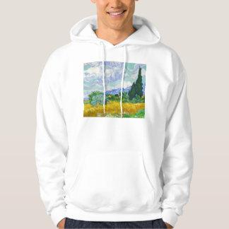 Wheatfield with Cypresses, Vincent Van Gogh Hoodie