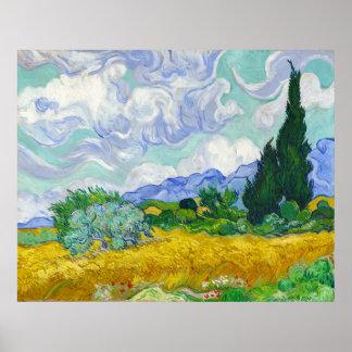 Wheatfield with Cypresses Vincent Van Gogh Print