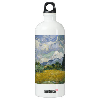 Wheatfield with Cypresses Water Bottle