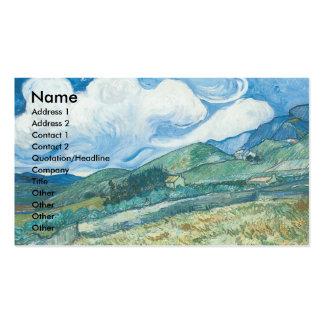 Wheatfields con la montaña en el fondo tarjetas de visita