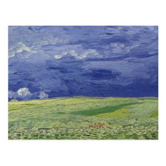 Wheatfields debajo de las nubes tormentosas, 1890 tarjetas postales