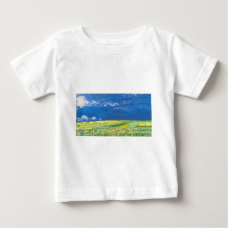 Wheatfields Under a Clouded Sky Baby T-Shirt
