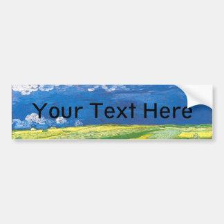 Wheatfields Under a Clouded Sky Bumper Sticker