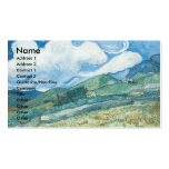 Wheatfields with Mountain in the Background Business Cards