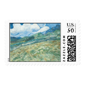 Wheatfields with Mountain in the Background Postage