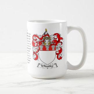 Wheatley, el origen, el significado y el escudo taza básica blanca