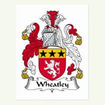 Wheatley Family Crest Postcard