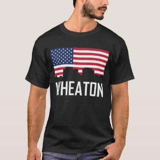 Wheaton Maryland Skyline American Flag T-Shirt