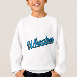 Wheaton neon light in cyan sweatshirt