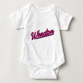 Wheaton neon light in magenta baby bodysuit