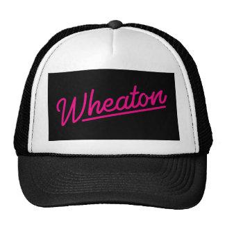Wheaton neon light in magenta trucker hat