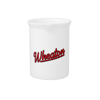 Wheaton neon light in red drink pitcher