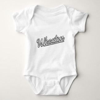 Wheaton neon light in white baby bodysuit