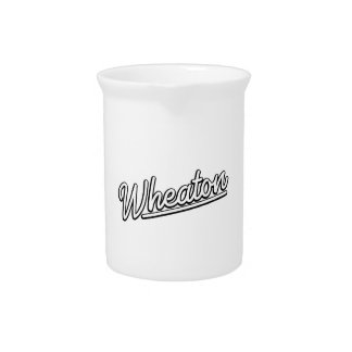 Wheaton neon light in white drink pitcher